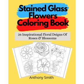 Stained-Glass-Flowers-Coloring-Book