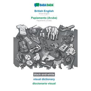 BABADADA-black-and-white-British-English---Papiamento--Aruba--visual-dictionary---diccionario-visual