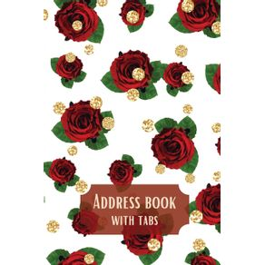 Address-book-with-tabs|Beautiful-flower-design-Tabbed-in-Alphabetical-Order|-Perfect-for-Keeping-Track-of-Addresses-Email-Mobile-Birthdays-and-more...