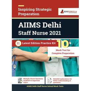 AIIMS-Delhi-Staff-Nurse-2021- -10-Mock-Tests- -Latest-Practice-Kit