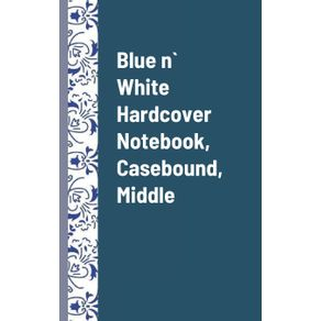 Blue-n--White-Hardcover-Notebook-Casebound-Middle-Pack-of-1