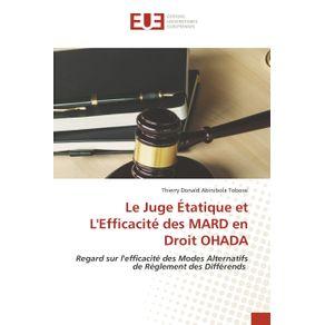Le-Juge-Etatique-et-LEfficacite-des-MARD-en-Droit-OHADA