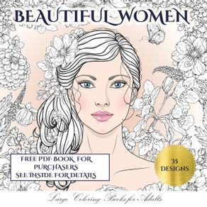Large-Coloring-Books-for-Adults--Beautiful-Women-