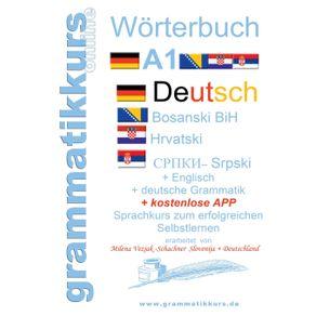 Worterbuch-Deutsch-Englisch-Kroatisch-Bosnisch-Serbisch-Niveau-A1