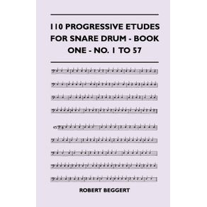 110-Progressive-Etudes-For-Snare-Drum---Book-One---No.-1-To-57