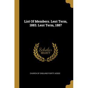 List-Of-Members.-Lent-Term-1883.-Lent-Term-1887