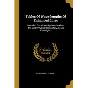 Tables-Of-Wave-lengths-Of-Enhanced-Lines