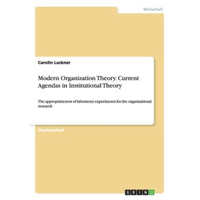Modern-Organization-Theory.-CurrentAgendas-in-Institutional-Theory