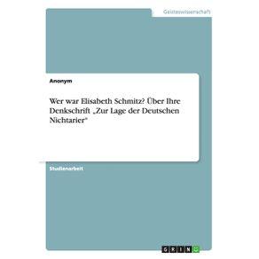 """Wer-war-Elisabeth-Schmitz--Uber-Ihre-Denkschrift-""""Zur-Lage-der-Deutschen-Nichtarier"""