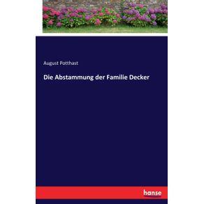 Die-Abstammung-der-Familie-Decker