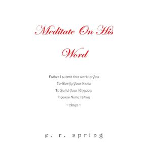 Meditate-On-His-Word