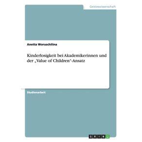 """Kinderlosigkeit-bei-Akademikerinnen-und-der-""""Value-of-Children-Ansatz"""