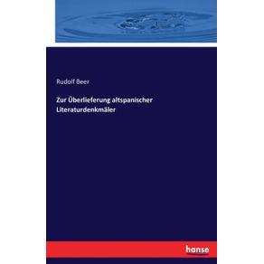 Zur-Uberlieferung-altspanischer-Literaturdenkmaler