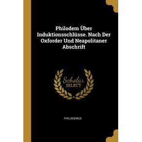 Philodem-Uber-Induktionsschlusse.-Nach-Der-Oxforder-Und-Neapolitaner-Abschrift