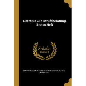 Literatur-Zur-Berufsberatung-Erstes-Heft