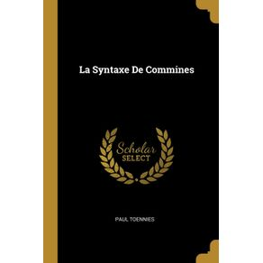 La-Syntaxe-De-Commines