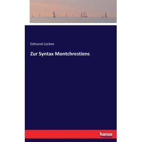 Zur-Syntax-Montchrestiens