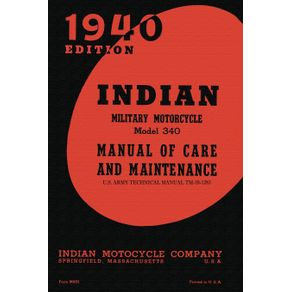 Indian-Military-Motorcycle-Model-340-Manual-of-Care-and-Maintenance