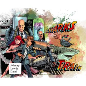 Sharks-on-a-Train---One-Shot--Hardcover-