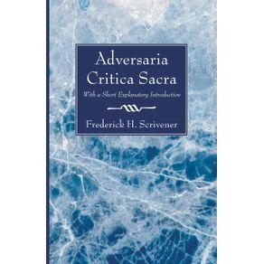 Adversaria-Critica-Sacra