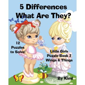5-Differences--What-Are-They--Little-Girls-Puzzle-Book-2--Wings---Things-