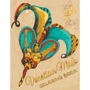 Venetian-Mask-Coloring-Book