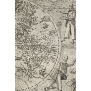 1596-Map-of-the-Western-Hemisphere---A-Poetose-Notebook---Journal---Diary--50-pages-25-sheets-