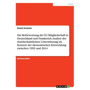 Die-Befurwortung-der-EU-Mitgliedschaft-in-Deutschland-und-Frankreich.-Analyse-der-durchschnittlichen-Unterstutzung-im-Kontext-der-okonomischen-Entwicklung-zwischen-1993-und-2014
