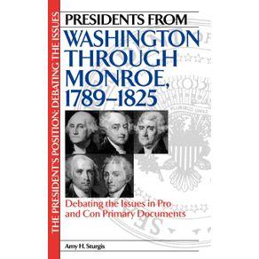 Presidents-from-Washington-Through-Monroe-1789-1825