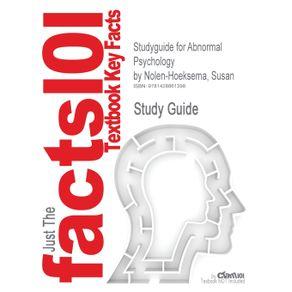 Studyguide-for-Abnormal-Psychology-by-Nolen-Hoeksema-Susan-ISBN-9780073382784