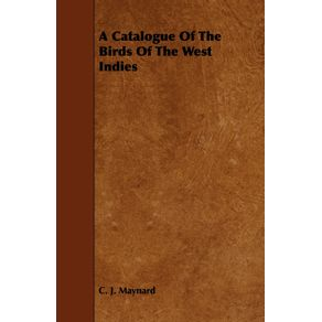 A-Catalogue-Of-The-Birds-Of-The-West-Indies