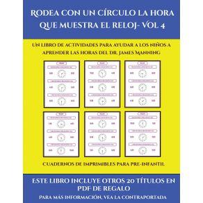 Cuadernos-de-imprimibles-para-pre-infantil--Rodea-con-un-circulo-la-hora-que-muestra-el-reloj--Vol-4-