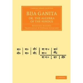 Bija-Ganita--Or-the-Algebra-of-the-Hindus