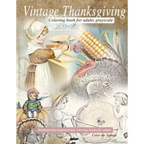 Vintage-Thanksgiving-Coloring-Book-For-Adults-Grayscale
