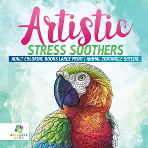 Artistic-Stress-Soothers-|-Adult-Coloring-Books-Large-Print-|-Animal-Zentangle-Special